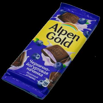 Альпен Гольд Шоколад Черника-Йогурт 90г. (20 шт.)