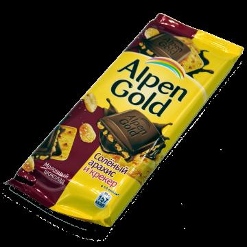 Альпен Гольд Шоколад Соленый Арахис + Крекер 90г. (20 шт.)